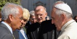 YOUR HOLINESS: Scripps Institution of Oceangraphy's Veerabhadran Ramanathan met with Pope Francis in May.