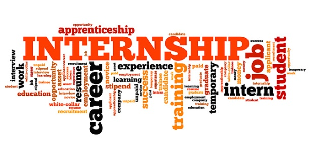 Internship - career issues and concepts word cloud illustration. Word collage concept.
